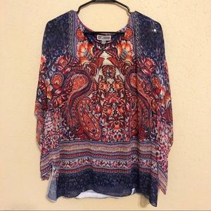 JM Collection | Paisley Poncho Top